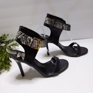 Guess Heel Sandals 8 Black Ankle Straps Strappy St